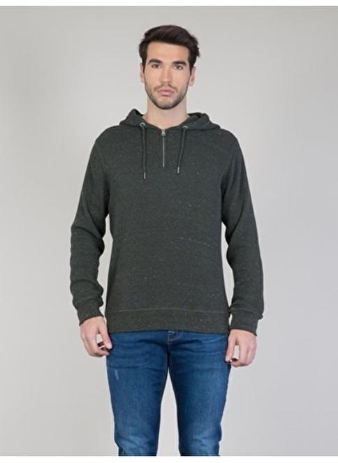 Colin's Kapüşonlu Sweatshirt Haki